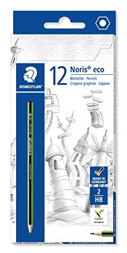 Staedtler Noris Eco 180 30-HB. Lápices ecológicos fabricados en WOPEX. Caja con 12 unidades de lápices HB.