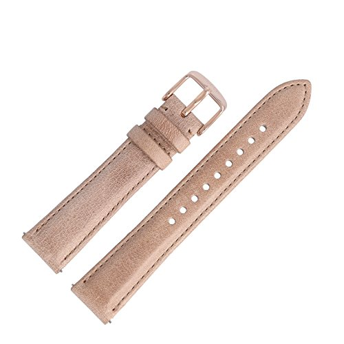 Fossil Uhrenarmband 18mm Leder Beige - ES-3816 | LB-ES3816