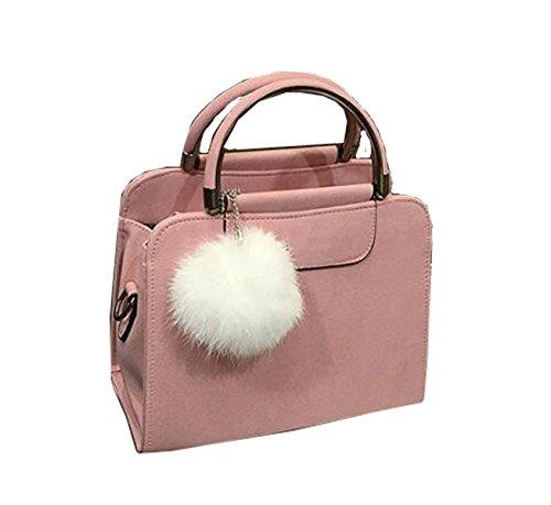 Autunno E In Inverno Palla Peluche Borsa Delle Donne Pink