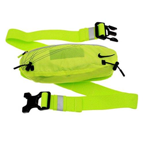 Nike Erwachsene Lightweight Running Slim Waist Pack Bauchtasche, Volt/Black, One Size Slim-pack