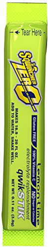 Sqwincher 060106-LL Sugar Free Electrolyte Powdered Beverage Mix Lite Qwik Stik, Lemon-Lime Flavor, 0.11 oz Bag (Pack of 50) by Sqwincher [Foods] (Drink Mix Powdered)