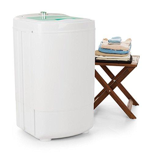 oneConcept Wirlbelwind • Centrifugadora • Secadora de camping • Carga superior • Rpm: 1.350 • Función de temporizador • Transportable • Económico • Potencia de 250 vatios • Secado rápido • Delicado • Silencioso • Capacidad de carga: 8 kg • Blanco