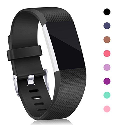 Für Fitbit Charge 2 Armband, Mornex Original Ersatzarmband Sport Fitness Watch Band Small, Schwarz