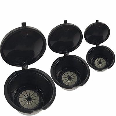 Decdeal 3Pcs Capsule Filtres Rechargeables Eco-friendly Reusable Cup Cafetera Accessoires pour tous les produits Standard Dolce Gusto Machines à café Espresso Nespresso