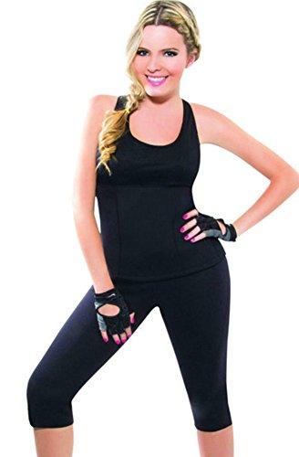ausom Damen Hot Shapers Thermo Neopren Abnehmen Schweiß Sauna Weste Shirt Tank Top Body Shaper Best -, damen, schwarz (Korsett Orchard)