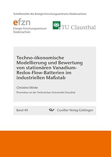 Techno-ökonomische Modellierung und Bewertung von stationären Vanadium-Redox-Flow-Batterien im industriellen Maßstab (Schriftenreihe des Energie-Forschungszentrums Niedersachsen (EFZN))