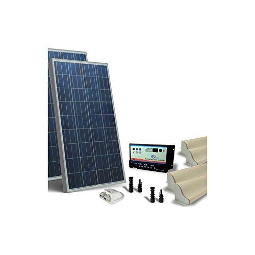 Solar Kit Camper 160W 12V Base Photovoltaik Panel (Camper Für Solar-panel-kit)