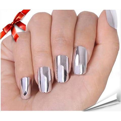 So Beauty Nail Art Polish Silver Metallic Foil Sticker Patch Wraps Tips 16pcs by So Beauty