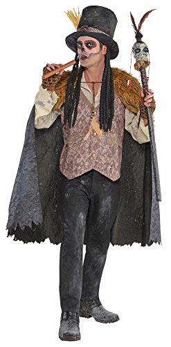 Voodoo Priester Shadow Man Kostüm - Gr. XXL