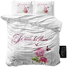 SleepTime Juego De Funda Nórdica French Love Blanco 240 X 200 cm + 2/60 x 70 cm