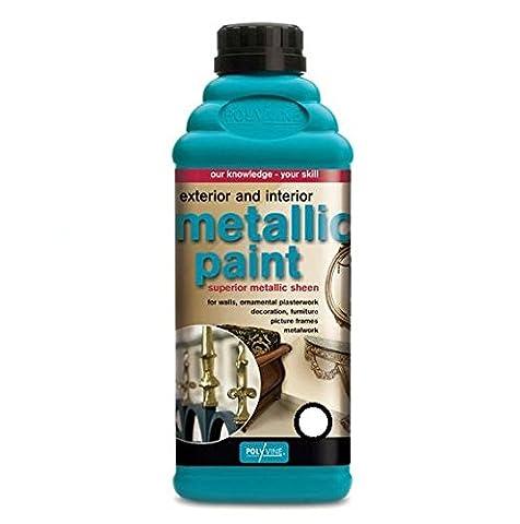 Polyvine Metallic Pewter Paint Finish 50g / 1.76 Fl oz