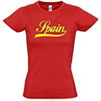 Damen T-Shirt - Spanien Oldschool Spain LÄNDERSHIRT EM / WM FAN Trikot S-XXL