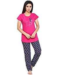a19a41dede8 Boring Dress Hosiery (Cotton Knitted) Top and Pajama Set Night Suit Nighty