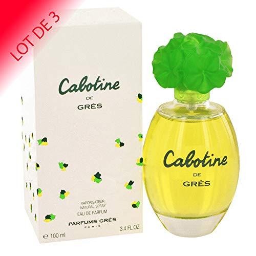 Cabotine de Grès Eau de parfum pour femme 100ml LOT DE 3 + échantillon offert
