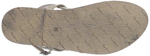 Pepe Jeans London  JANE BASIC, Sandales pour femme Blanc - Weiß (802OPTIC WHITE)