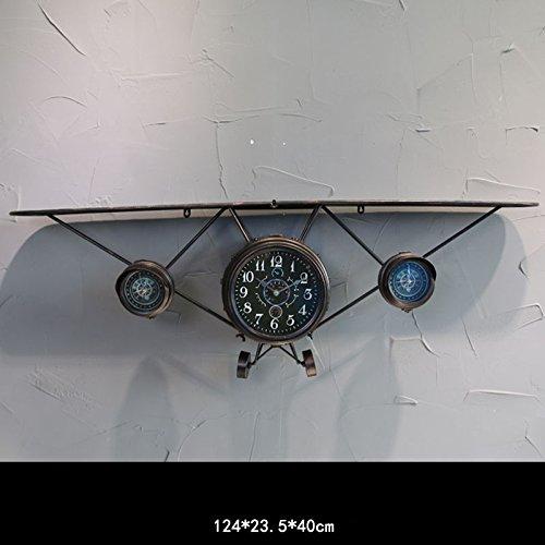 GYP Retro Eisen Flugzeug Uhr Bar Wand Regal, große dimensionale Wand Flugzeug Kopf Home Wand hängen Internet Cafes Wanddekoration Dekorationen kaufen ( Farbe : #2 )