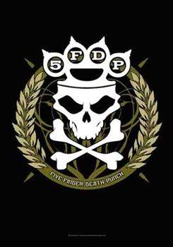 Five Finger Death Punch-Tour Date Textile poster Bandiera