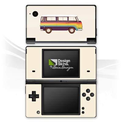 atibel mit Nintendo DSi Aufkleber Sticker Folie Van Regenbogen Auto ()