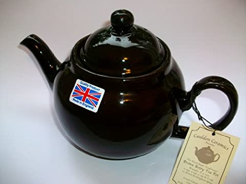 Traditional handmade Brown Betty 8 Cup Teapot in Rockingham Glaze by The China Street by The China Street