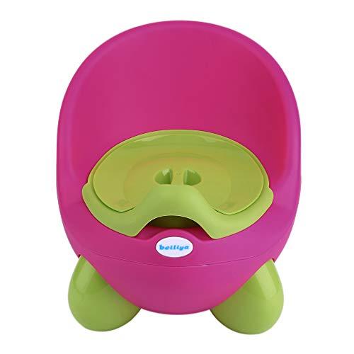OUTAD Töpfchen Baby Potty Töpfchen-Trainer lerntöpfchen Kindertoilette,griff für kinder mädchen Junge Von 18 Monaten bis 5 Jahre (Grün/Rot)