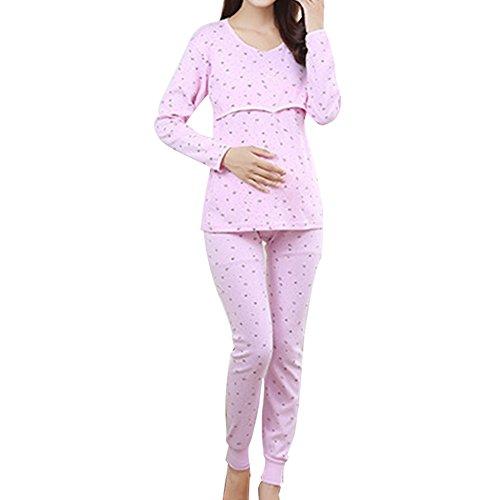 Samber Pijamas para Mujer Embarazada de Maternidad Conjunto de Ropa de Casa Otoño e Invierno