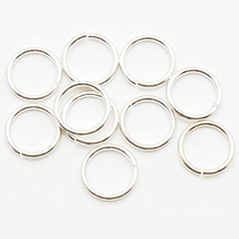 TheTasteJewelry 8mm 18G Round Jump Ring Silver Tone Lot 1000 Pcs Findings Jewelry Making Finishings