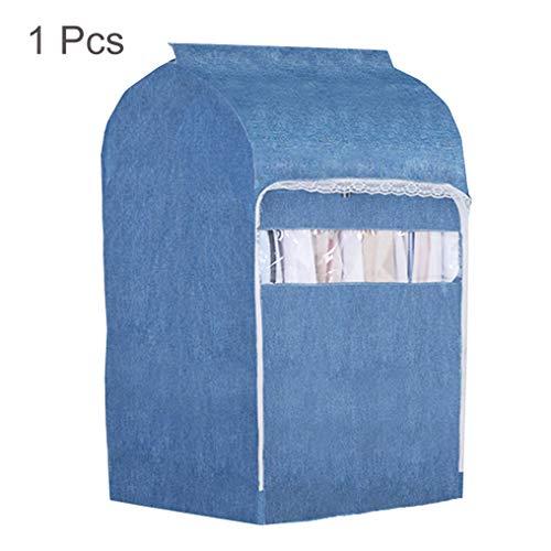 ZYQDRZ Dreidimensionaler Staubschutz für Kleidung aus Baumwolle und Leinen für Herren- und Damenbekleidung, z. B. Anzüge, Hemden, Lange Röcke, Pullover, waschbar,Blue -