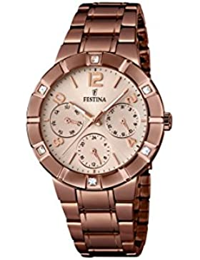 Festina Damen-Armbanduhr Analog Quarz Edelstahl F16710/1