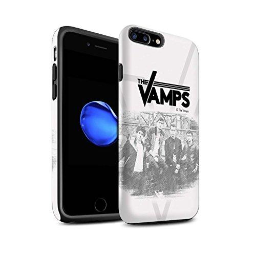Officiel The Vamps Coque / Matte Robuste Antichoc Etui pour Apple iPhone 7 Plus / Scrapbook Design / The Vamps Séance Photo Collection Esquisser