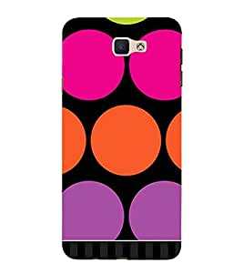 Samsung Galaxy J7 Prime (2016) pink circle orange circle purple circle Designer Printed High Quality Smooth hard plastic Protective Mobile Case Back Pouch Cover by Paresha