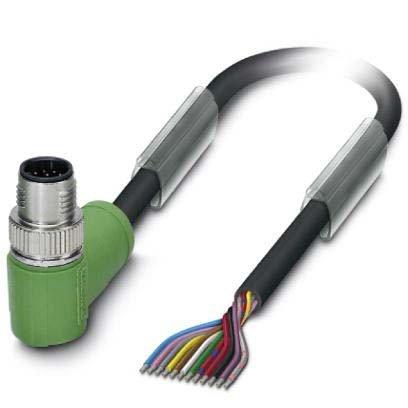Phoenix Contact Sensor-/Aktor-Kabel SAC-12P-MR/ #1554830 12-pol.RAL9005 5m Konfektioniertes Sensor-Aktor-Kabel 4046356176446 -
