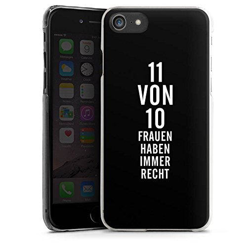 Apple iPhone X Silikon Hülle Case Schutzhülle Lustig Frauen Sprüche Hard Case transparent