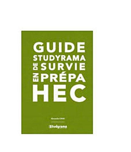 Guide studyrama de survie en prépa HEC