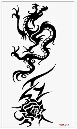 3d tattoo adesivo drago
