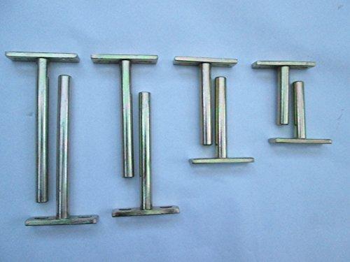 Ironmongery World® 1par oculta de acero galvanizado amarillo flotante soporte de pared...