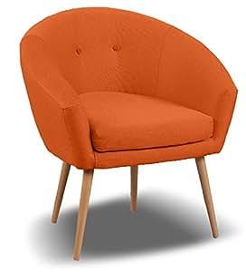Fauteuil Switsofa Michigan Tissu Orange 78x66x76
