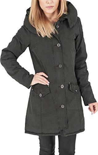 Urban Classics TB1088 Damen Jacke Jacke Garment Washed Long Parka grün (Olive) X-Large