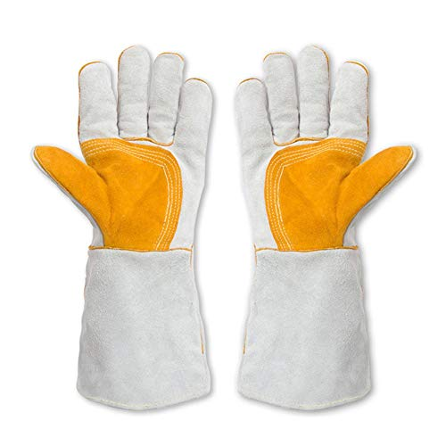 Kycd guanti protettivi per la gestione degli animali anti-morso/scratch guanti per cani cats anti-bite gauntlets, 40cm,1pairs
