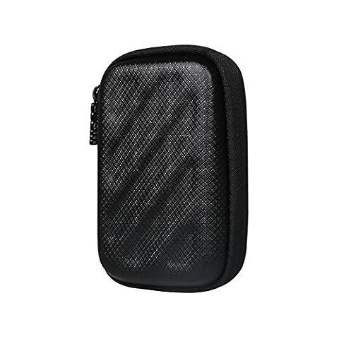 BUBM Rechteck Tragbare Tasche Schutztasche für Kopfhörer oder anderen Kleinkram wie Ipod, Ohrpolster oder MP3 Schutzhülle Case,
