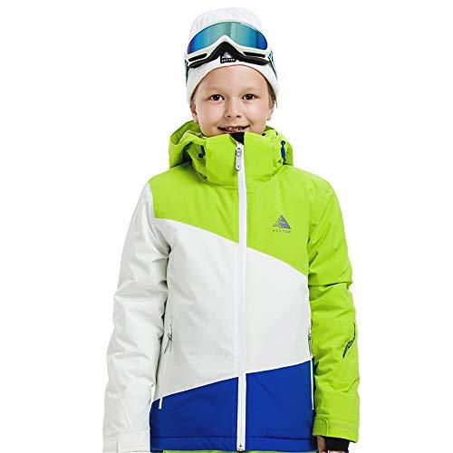 CXJC Ski Jacke Jungen Skibekleidung Wasserdicht Winddicht Atmungsaktiv Thermisch Dick Schnee Jacke Für Snowboard Ski Outdoor Wandern Winter Für 8 9 10 11 12 13 14 Kinder B-160