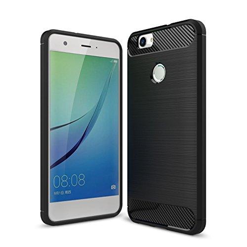 IVSO Huawei Nova Custodia, Protettiva Case Cover Custodia in silicone per Huawei Nova 5.0-Inch Smartphone (Nero)