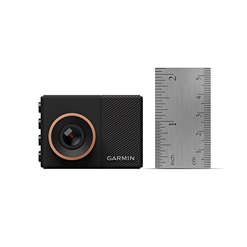 """Garmin Dash Cam 55, 1440p 2.0"""" LCD Screen, Extremely Small GPS-Enabled Dash Camera with Voice Control, Loop Recording, G-Sensor and Driver Alerts, Includes Memory Card"""