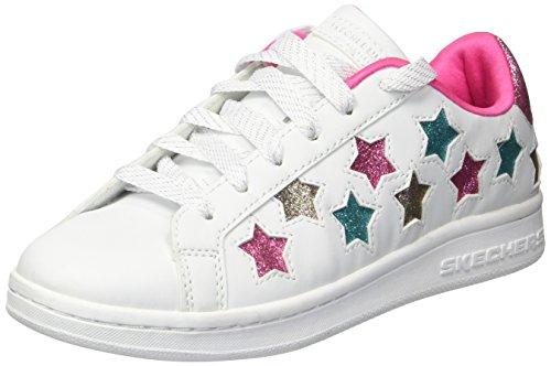 Skechers Mädchen Omne-Lil' Star Side Sneaker, Weiß (White/Multicolour), 37 EU