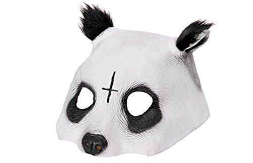 CuteOn Halloween Masquerade Halber Gesichts Panda Maske Wei? One - Halloween-maske Kunststoff-gesicht