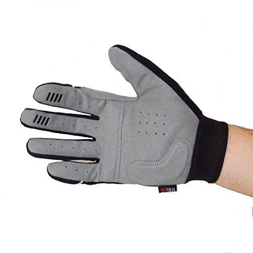 KrosteK Par de guantes Full Fingers crossfit (M) - Guantes de dedo largo para evitar los callos. Entrenamiento funcional.
