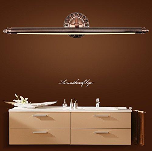 LED Spiegelleuchte, ZMH 12W antik Bilderleuchte Vintage Spiegellampe schwenkbar aus Rostfrei Stahl...