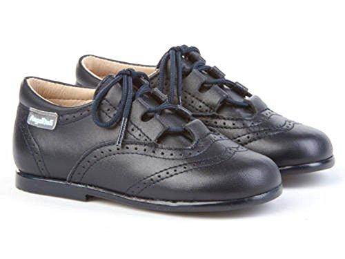 ANGELITOS Zapatos inglesitos de Piel Para Niña y Niño Unisex Color Marino. Marca Modelo 505. Calzado...