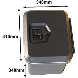 DAKEN CABV81000/410BP Boîte de rangement étanche et verrouillable en plastique pour voiture, remorque, caravane, camion