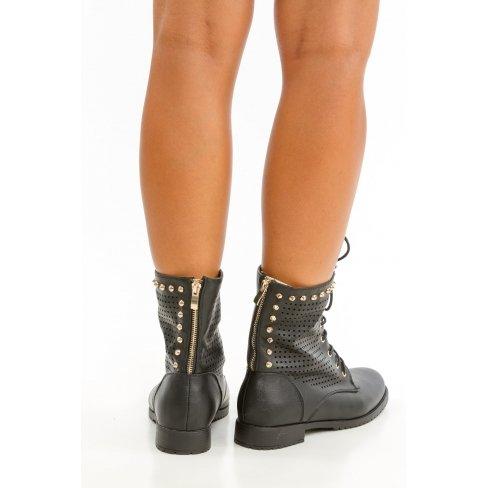 Princesse boutique - Bottines noire à lacets Noir