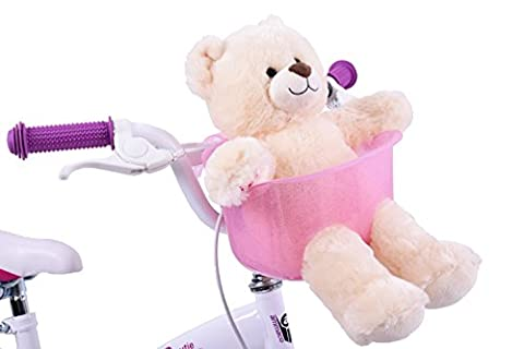 Ammaco Kids Childs Girls Pink Front Teddy Dolly Bike Carrier Basket Seat
